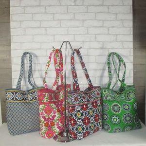 Lot 4 Vera Bradley Tote Shoulder Bag Handbag